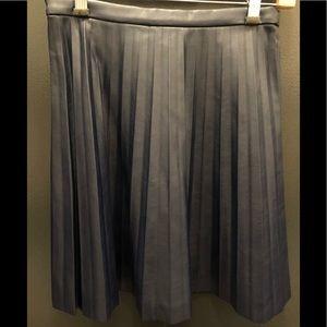 Nancy blue faux leather mini skirt